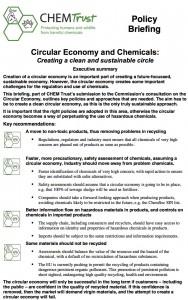 Policy brefing circular economy
